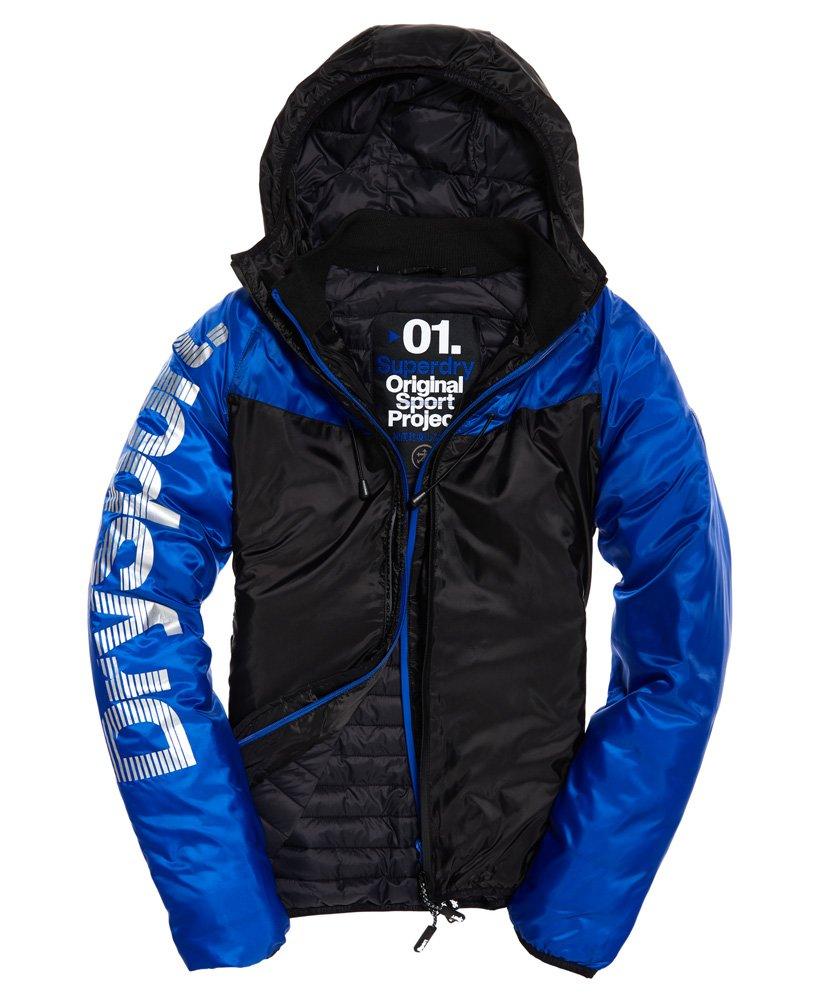Superdry Chevron Sportshell winterjas in donkergrijs en blauw