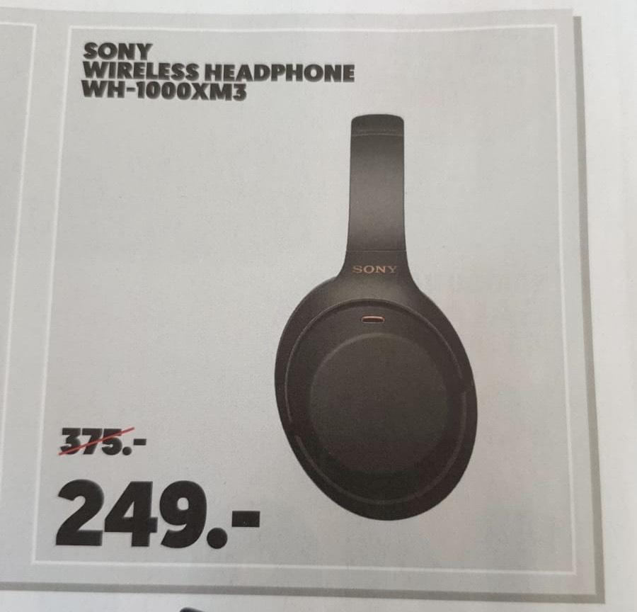 Sony WH-1000XM3 @ Mediamarkt 16-19 mei + Ticketmastervoucher t.w.v. €50