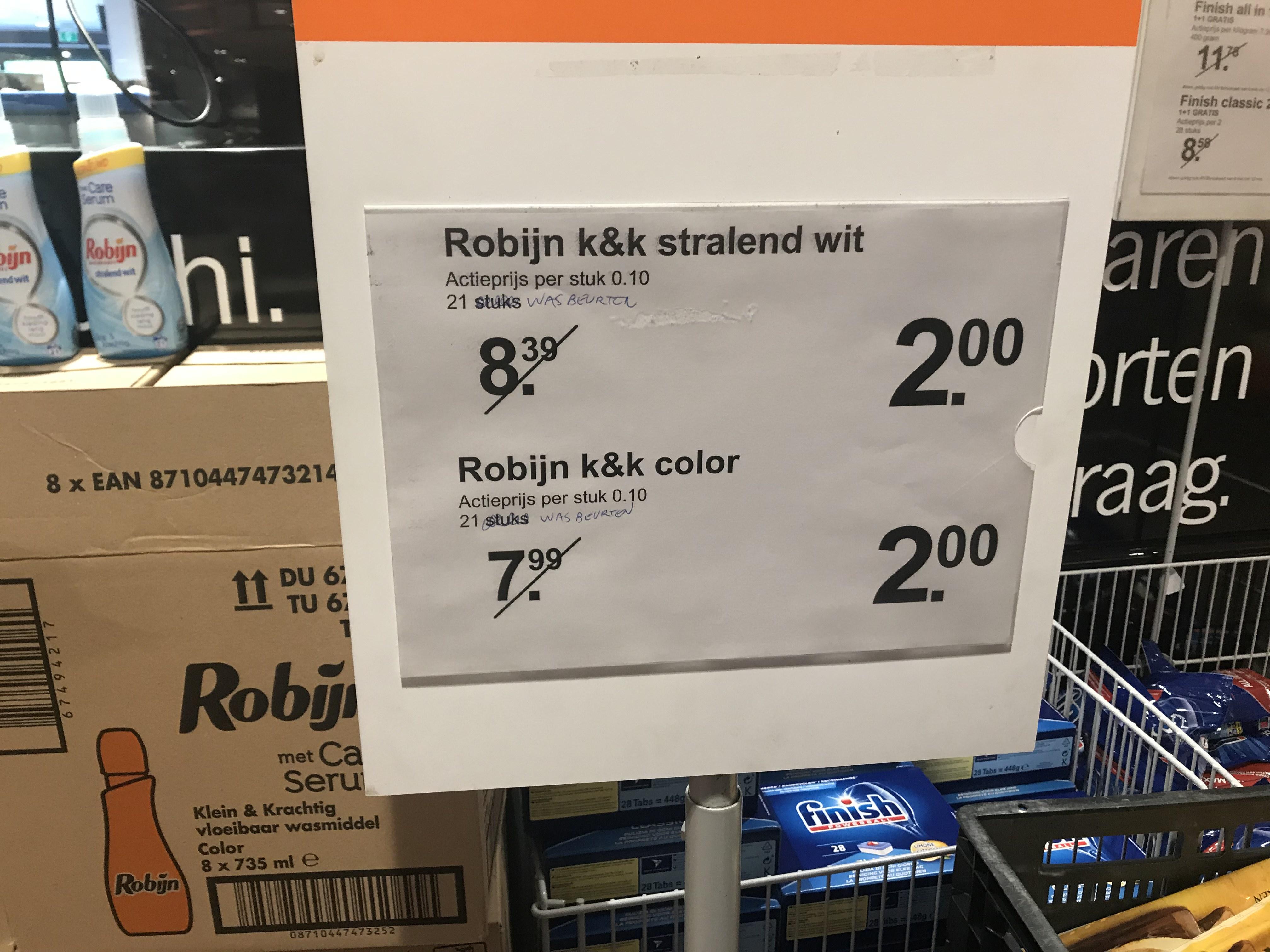 [Lokaal] Robijn wasmiddel 735ml voor €2 @ Albert Heijn Wassenaar