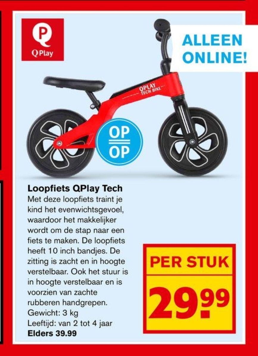 Q-play Loopfiets bij Hoogvliet.com