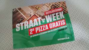2e Pizza gratis met code 473 bij New York Pizza