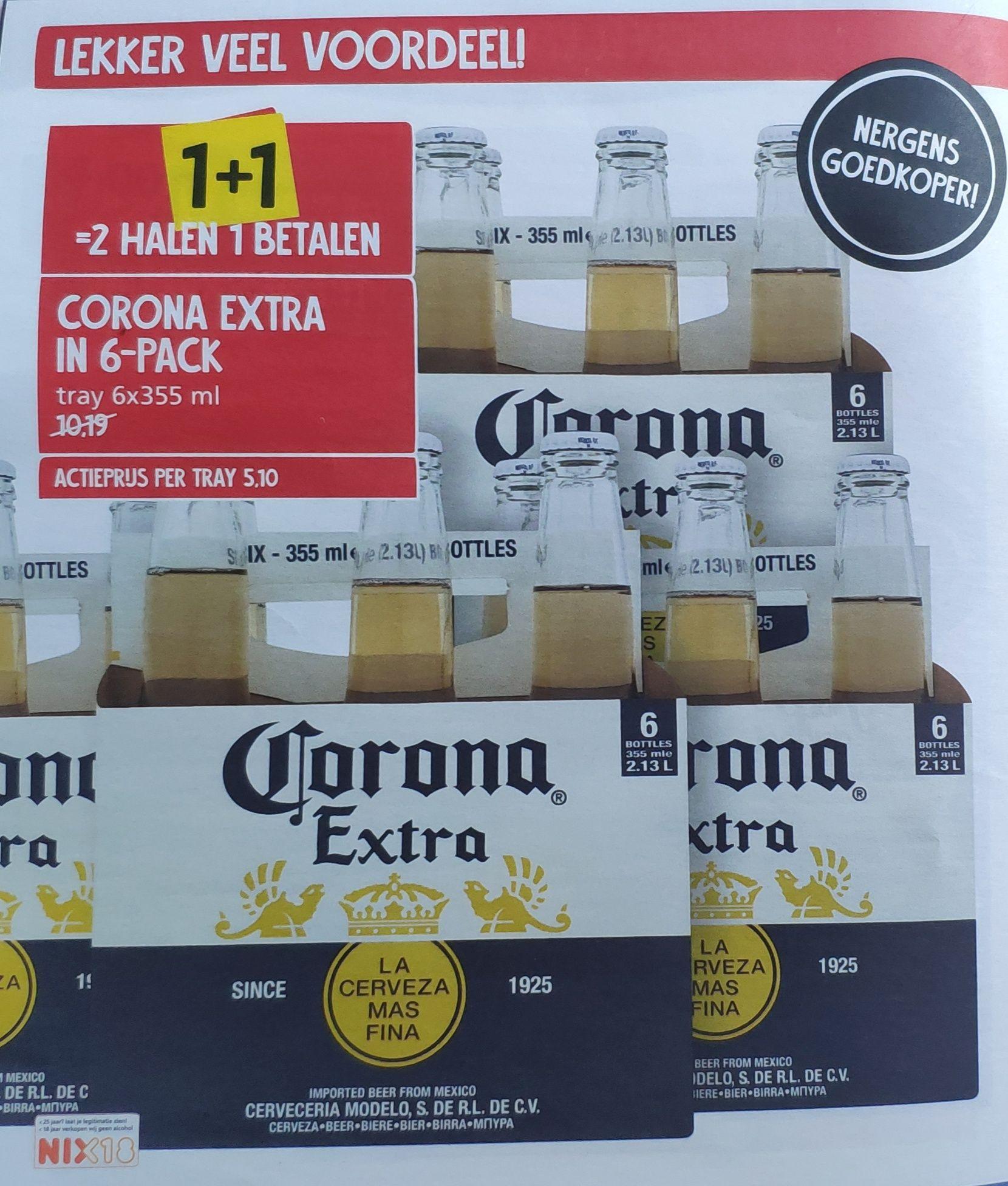 6-pack  Corona 1+1 gratis @ Jan Linders