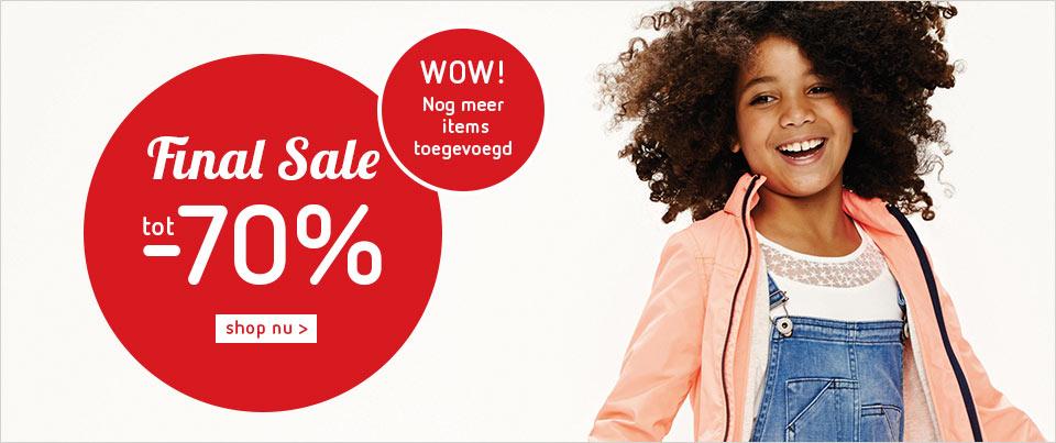Zomersale - veel kinder merkkleding met 70% korting @Kleertjes.com