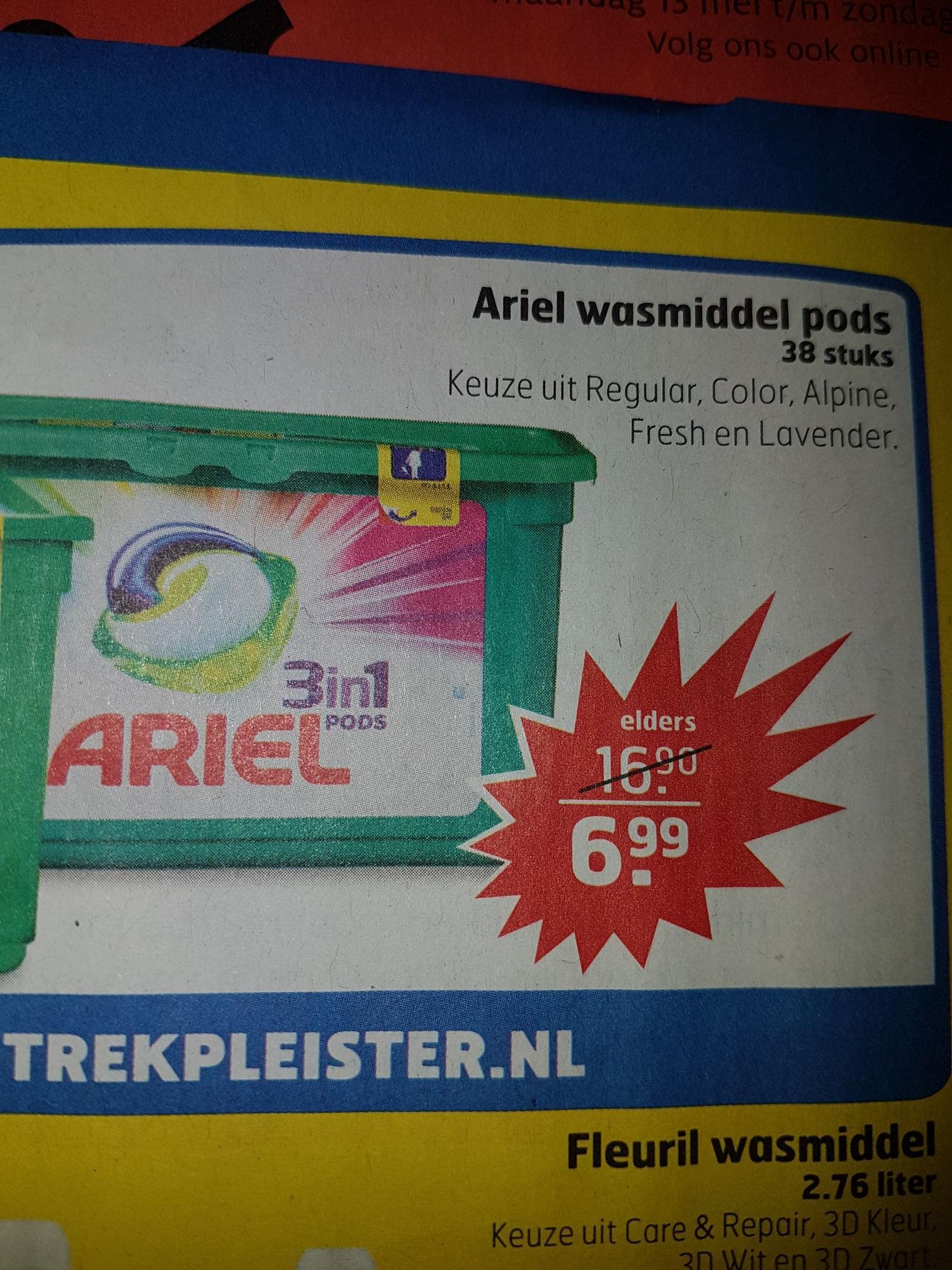 Ariel pods 3 in 1 38 stuks