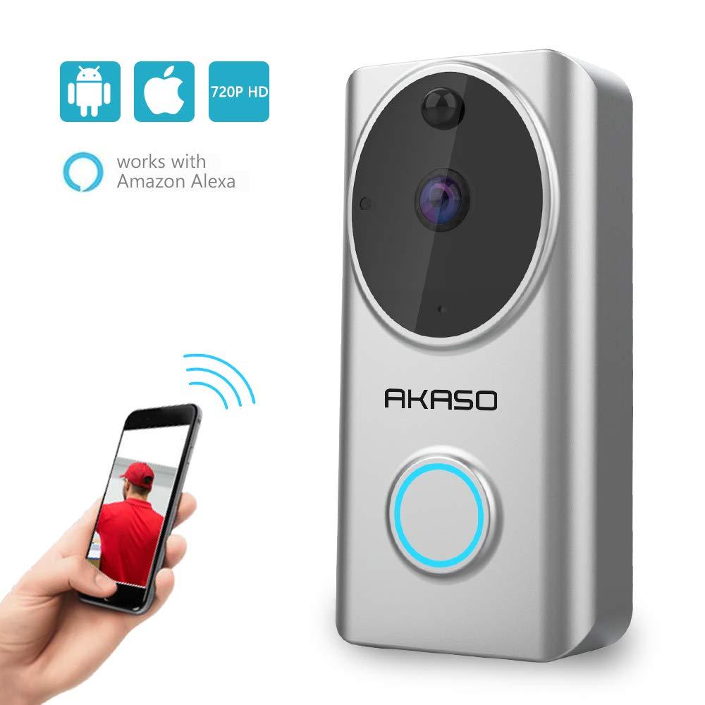 AKASO WiFi 720p smart deurbel voor €67,26 @ Amazon.co.uk
