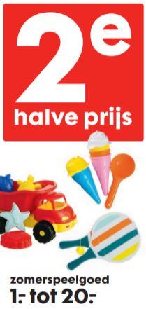 Zomerspeelgoed: 2e halve prijs + 5% extra @ HEMA