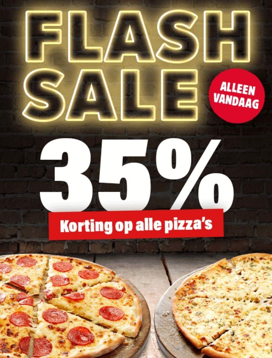 Alleen vandaag: 35% korting op alle pizza's bij Domino's (Groningen)