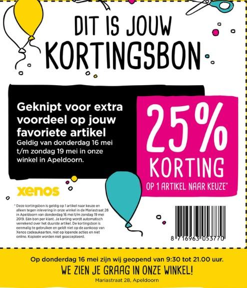 Feestelijke opening Xenos Apeldoorn: kortingsbon en win 1 min gratis shoppen