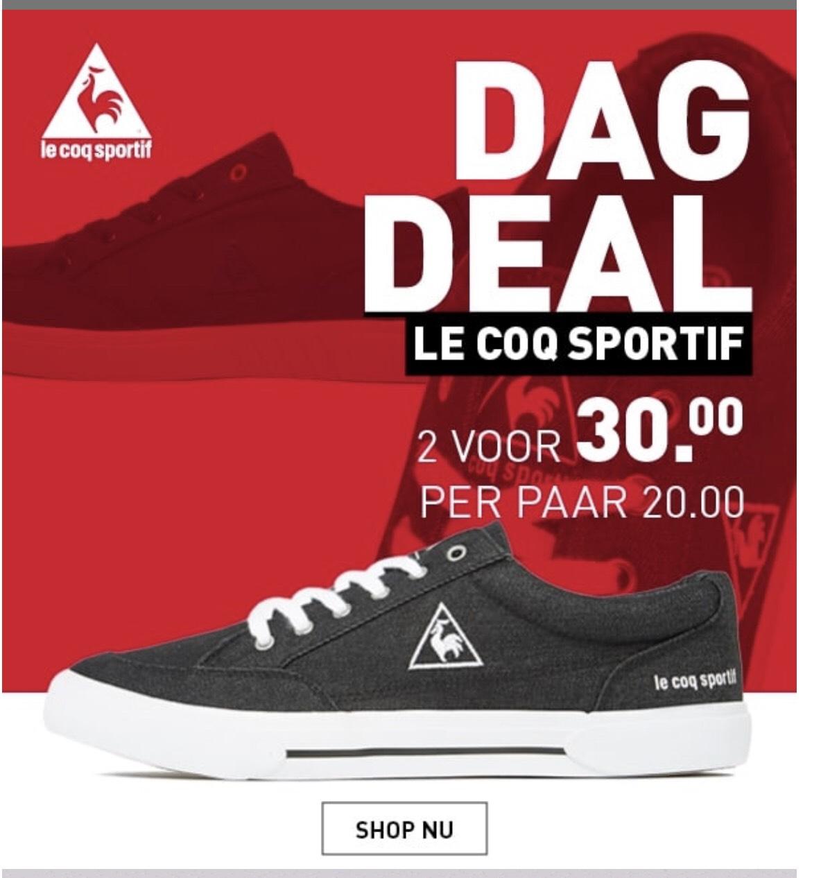 Dagdeal: 2 paar sneakers voor € 30.-