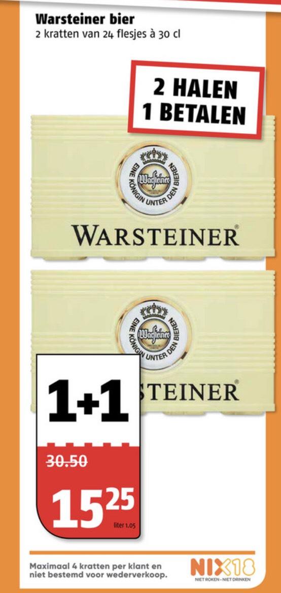 Warsteiner 1+1 gratis Poiesz