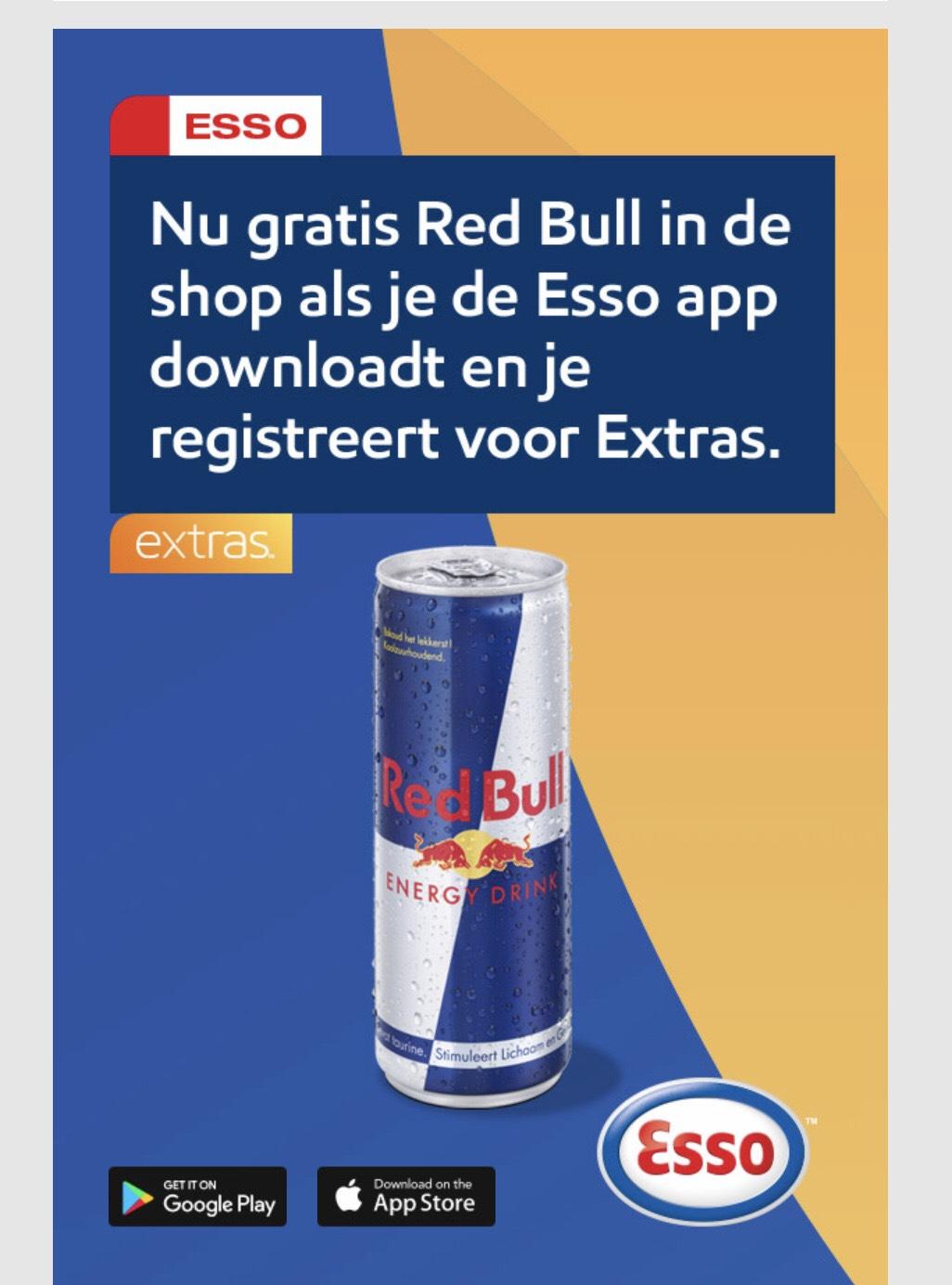 Gratis blikje Redbull @Esso extra app