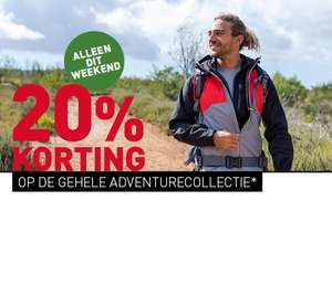 ADVENTURE WEEKEND: 20% KORTING