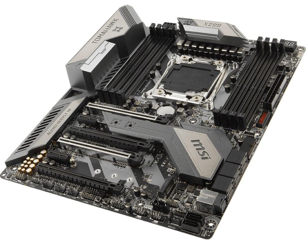 MSI X299 TOMAHAWK AC LGA 2066 Intel® X299 ATX Moederbord @ Update.nl