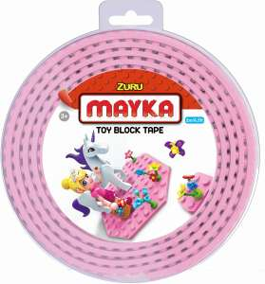 Mayka bouwblokjes tape roze 2 meter / 2 studs voor €2,98 @ Bol.com