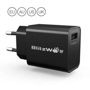 BlitzWolf BW-S9 18W USB lader met Quick Charge 3.0