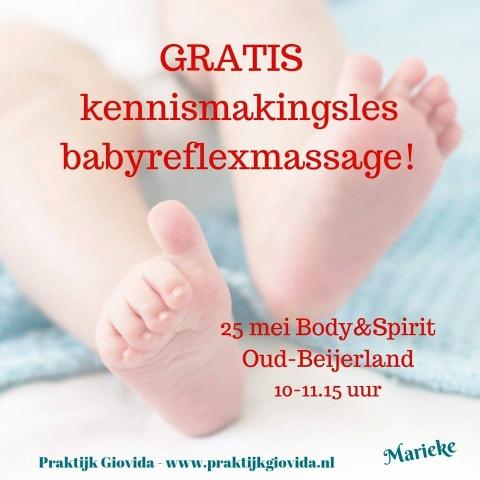 Gratis kennismakingsles babyreflexmassage [Oud Beijerland]