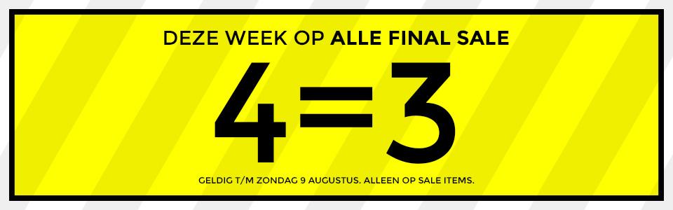 4 Halen 3 Betalen op alle SALE (tot -70%) @ Score