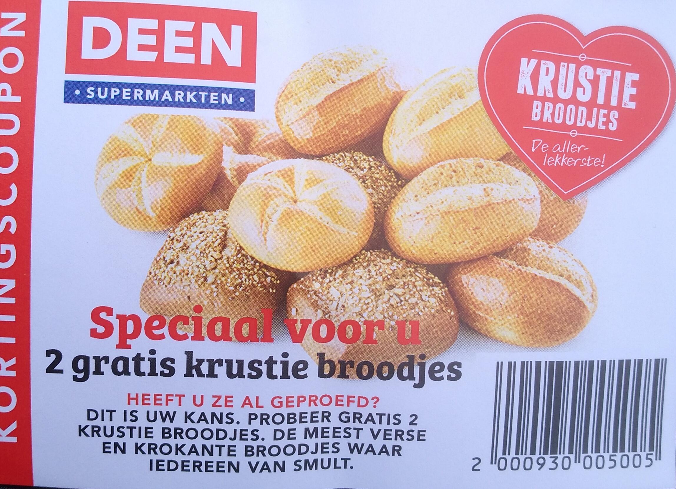 Gratis Krustie broodjes bij Deen