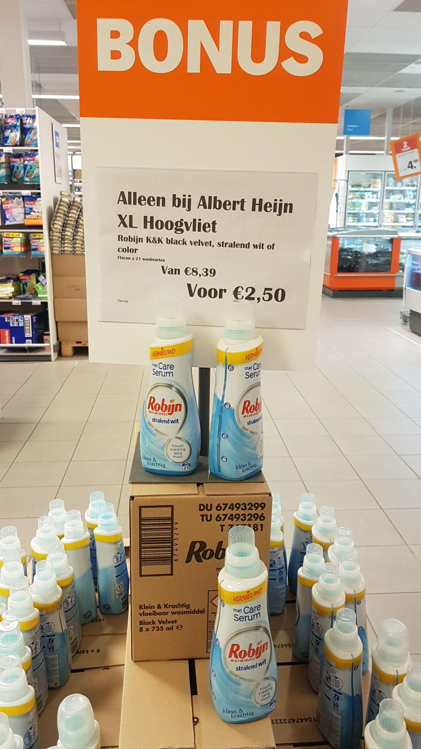 Robijn wasmiddel 21 wasbeurten@Albert Heijn Hoogvliet