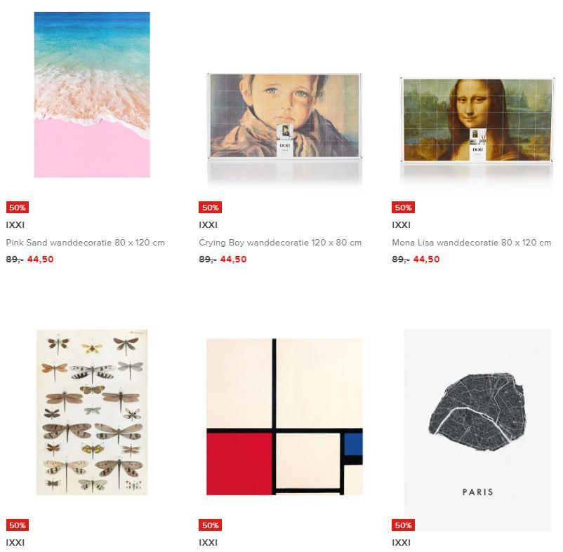 IXXI wanddecoratie -70% (40 prints) @ De Bijenkorf