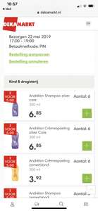 Andrelon shampoo en conditioner 3 voor €5,- @Dekamarkt