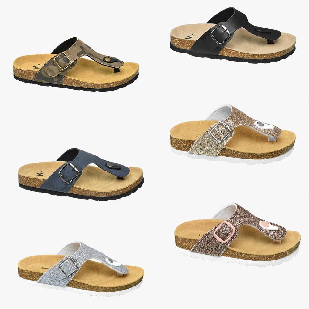 Kids slippers (leren voetbed) met korting (va €9,99) @ Van Haren