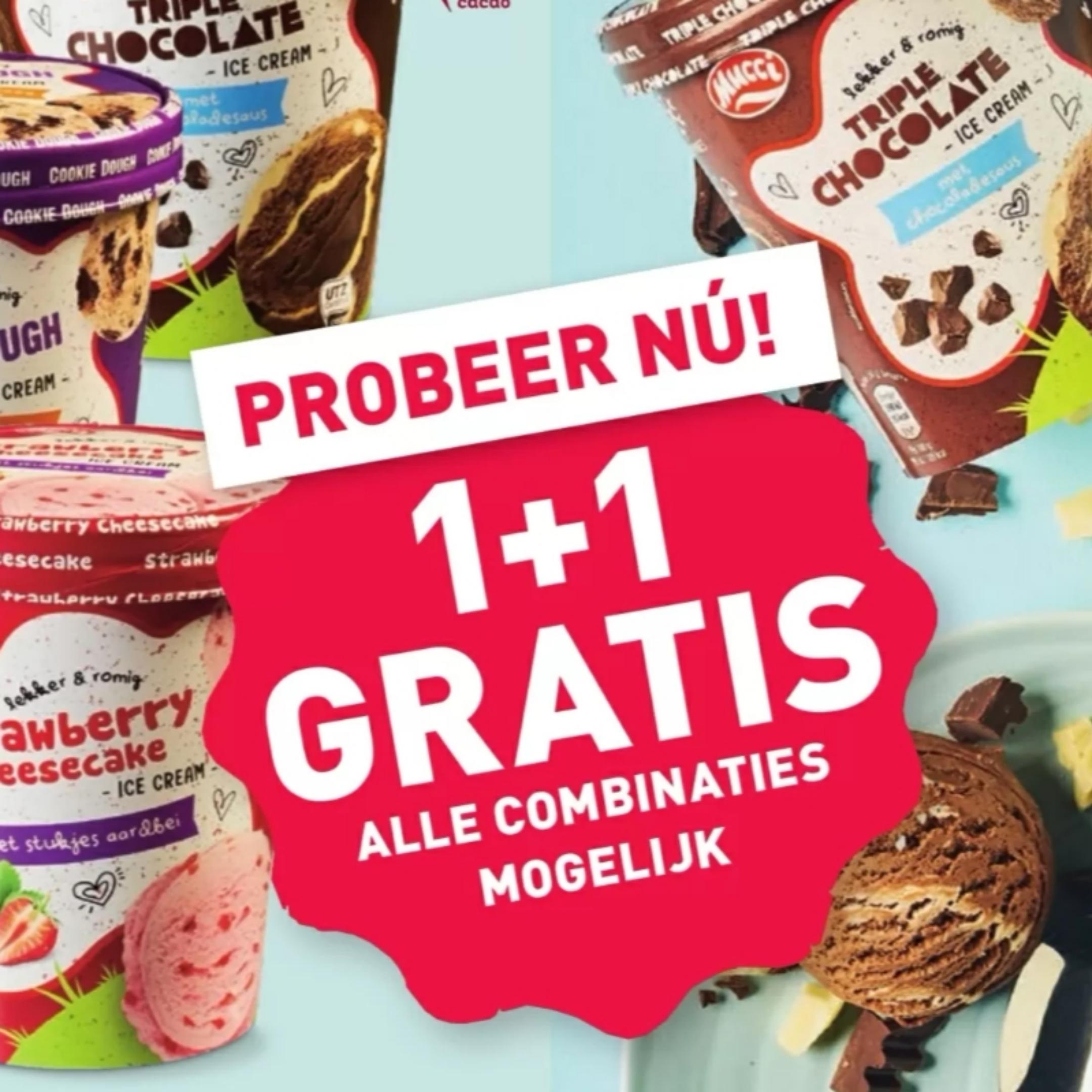 (1+1 gratis) IJsbekers 500 ml @Aldi