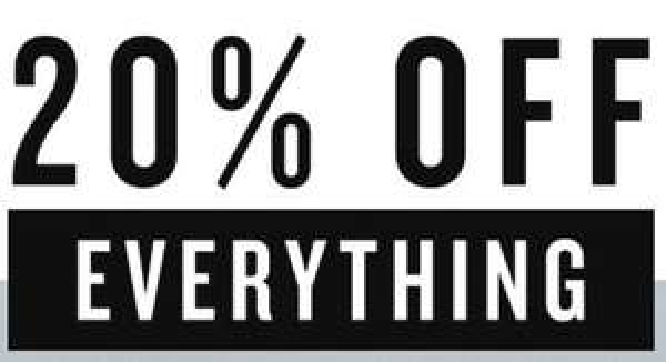 Actie: 20% korting - ook op sale (tot -75%) @ America Today