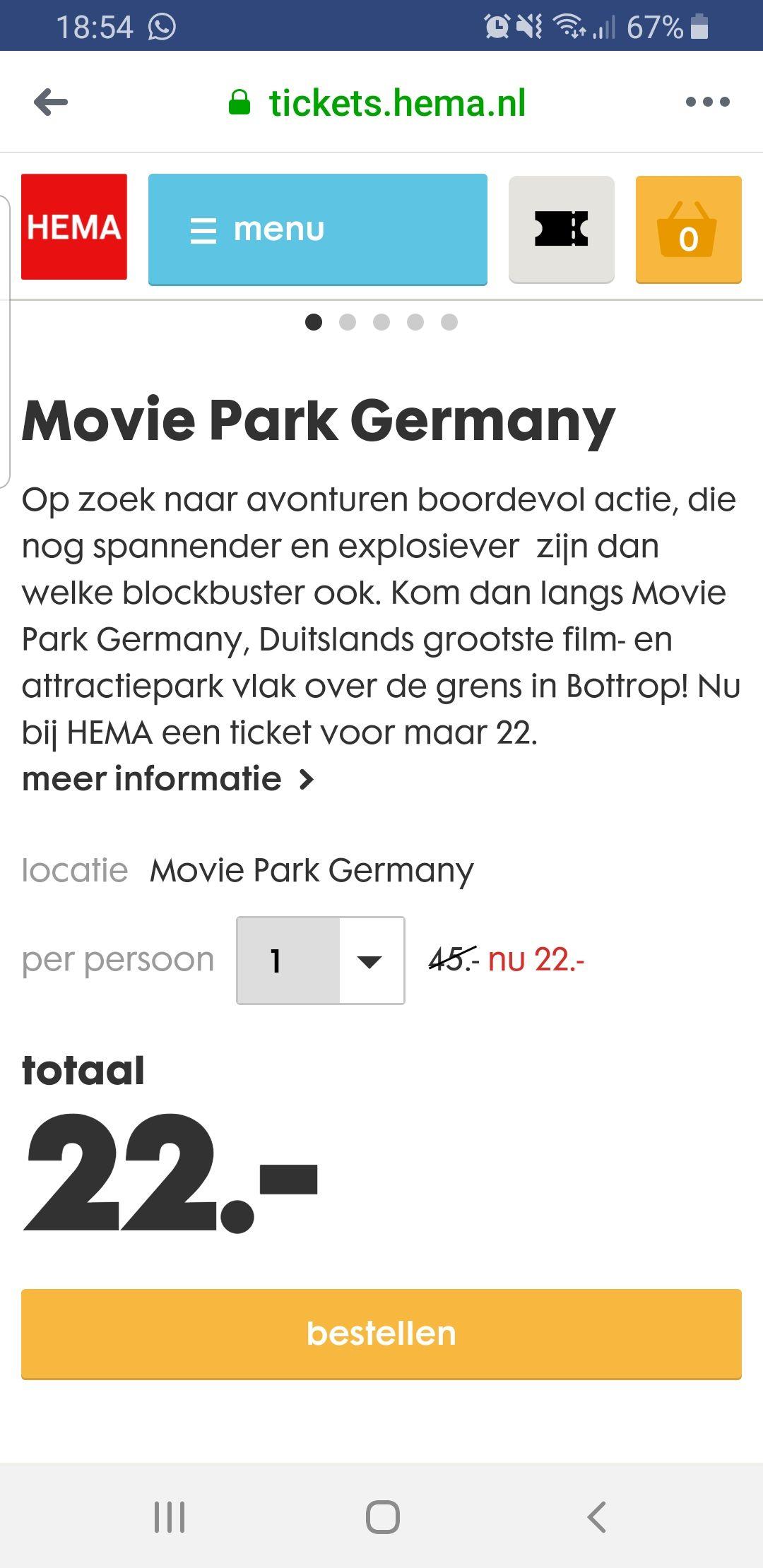 Movie Park Germany van €45 voor €22 pp