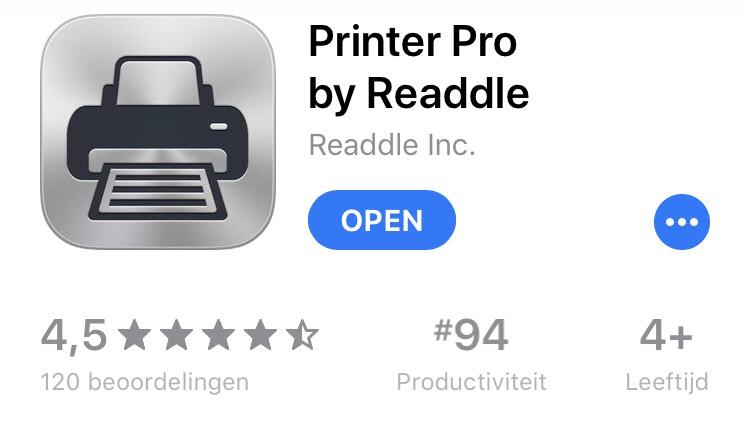 [iOS] Printer Pro by Readdle (gratis)