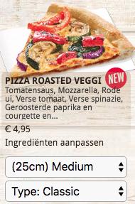 Betaal 'altijd' € 4,95 (bij afhalen) voor je pizza bij Dominos