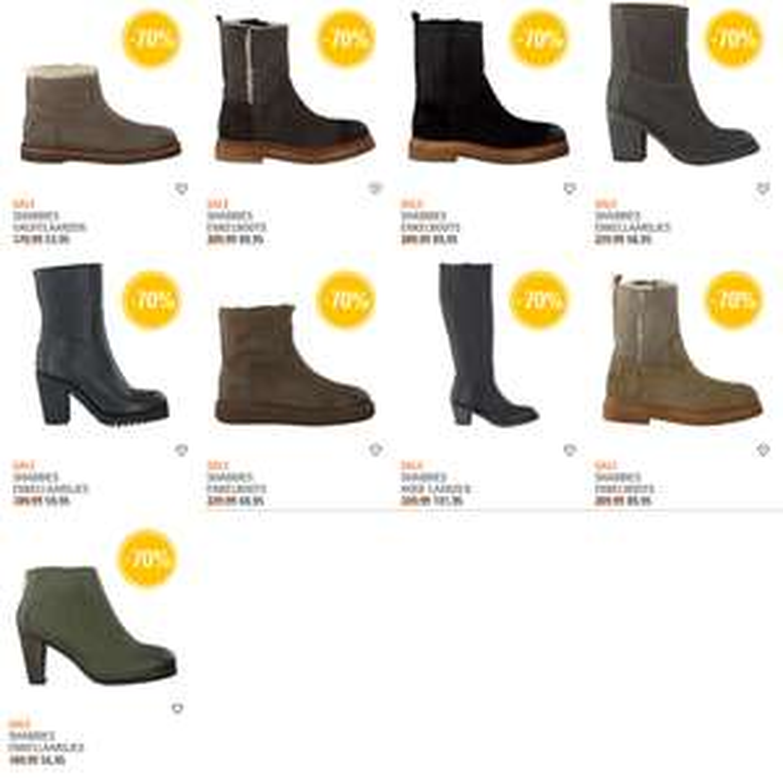 Diverse modellen Shabbies laarzen -70% @ Omoda