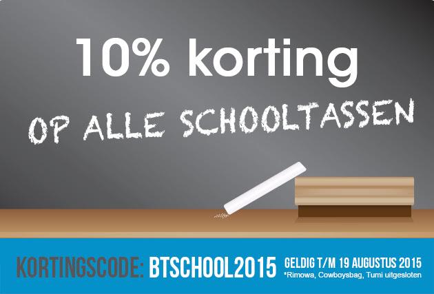 10% korting op alle schooltassen @ Bagageonline