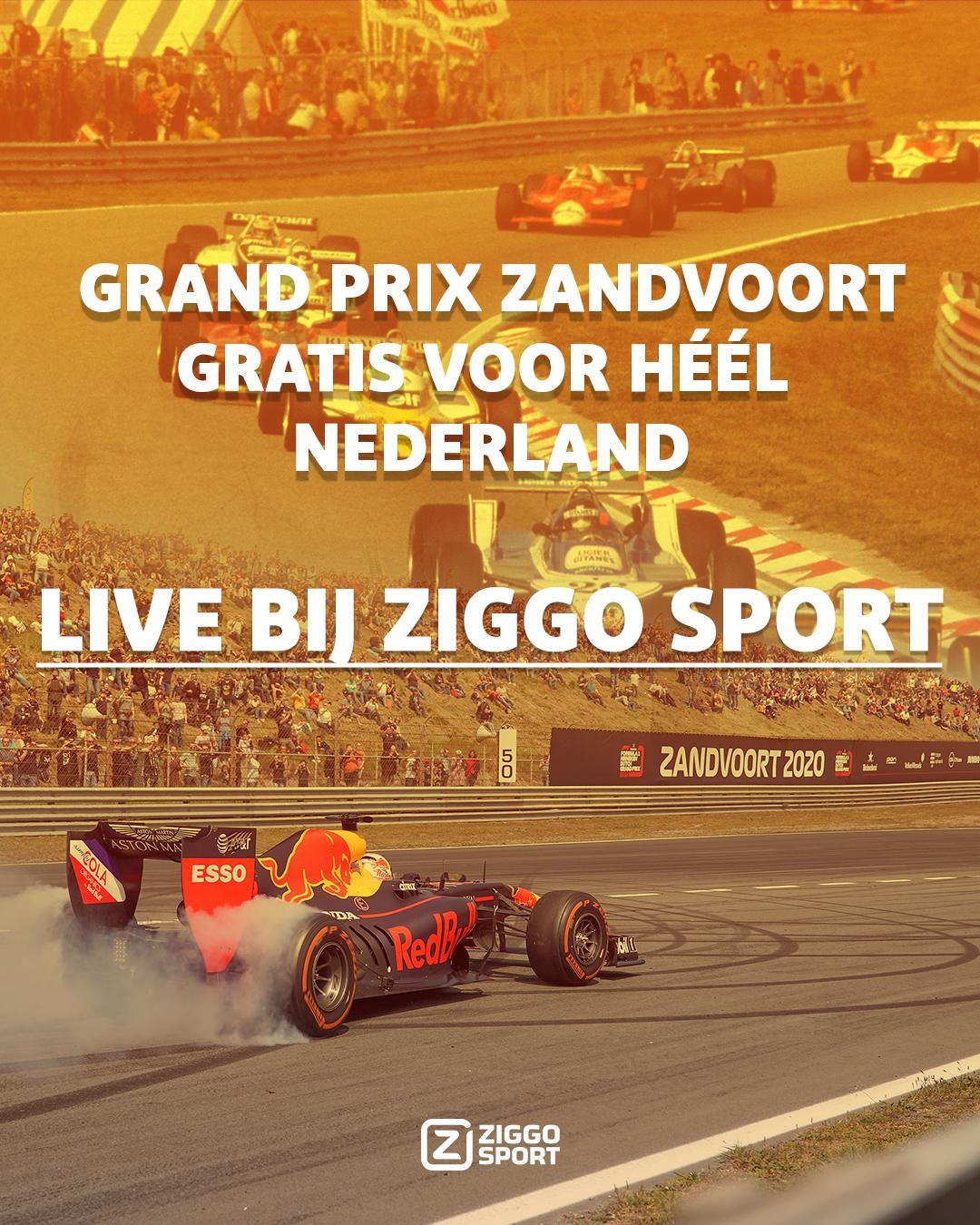 Ziggo zendt F1 Zandvoort 2020 gratis uit voor heel Nederland