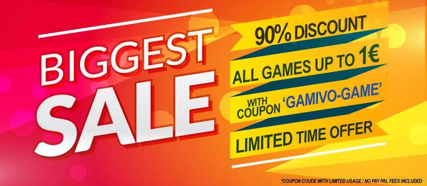 90% korting op alle games tot €1 @ Gamivo
