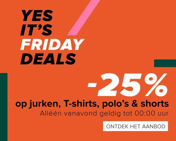 Vanavond 25% korting op jurken, T-shirts, polo's en shorts @ Hudson's Bay
