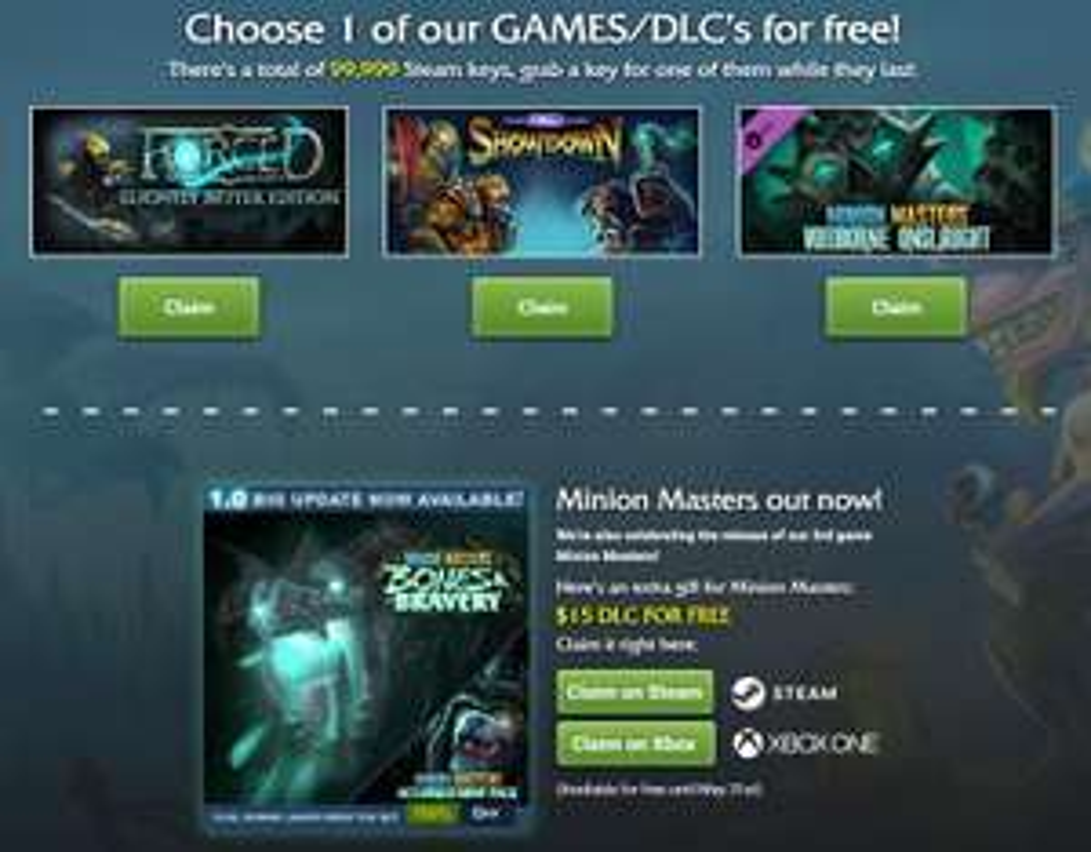 Keuze uit 1 van 3 games/DLC gratis @steam