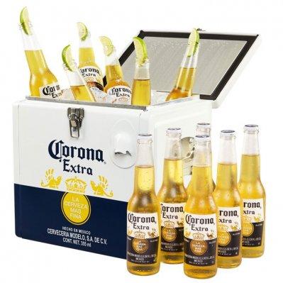 Corona Coolbox met 12 flesjes Corona via AH.nl OP=OP