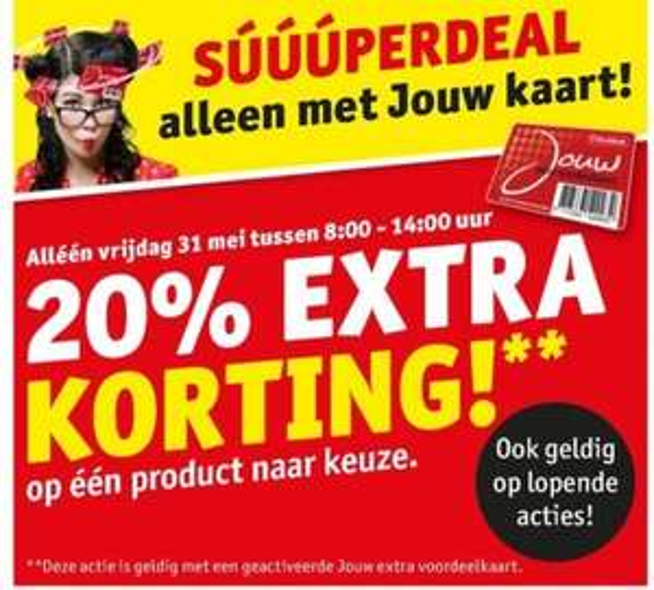 @Kruidvat, alleen op 31 mei 20% extra korting