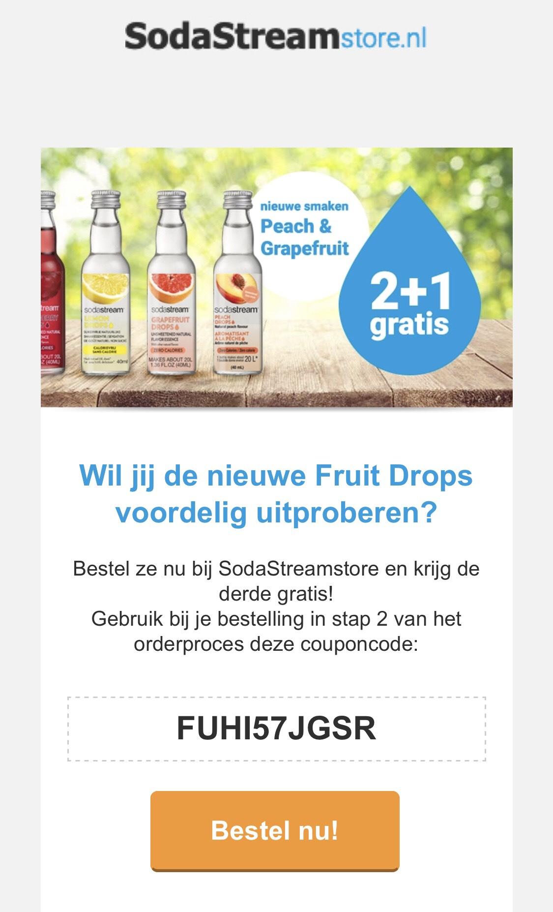 SodaStream siropen 2+1 gratis