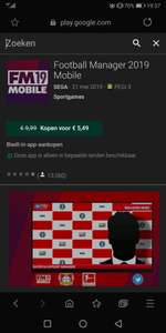 @GooglePlay Football manager 19 Mobile