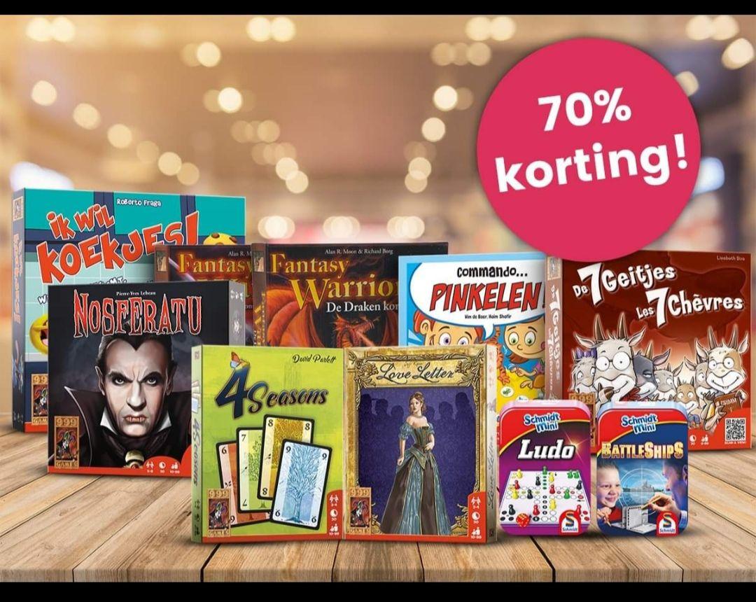 Outlet Sale Spellenpakket 999 Games met 70% korting