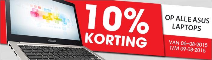 10% korting op alle Asus laptops @ Modern