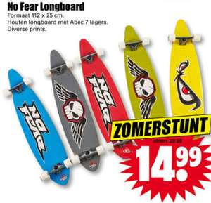 No Fear longboard €14,99 (elders va €36,95) @ Dirk
