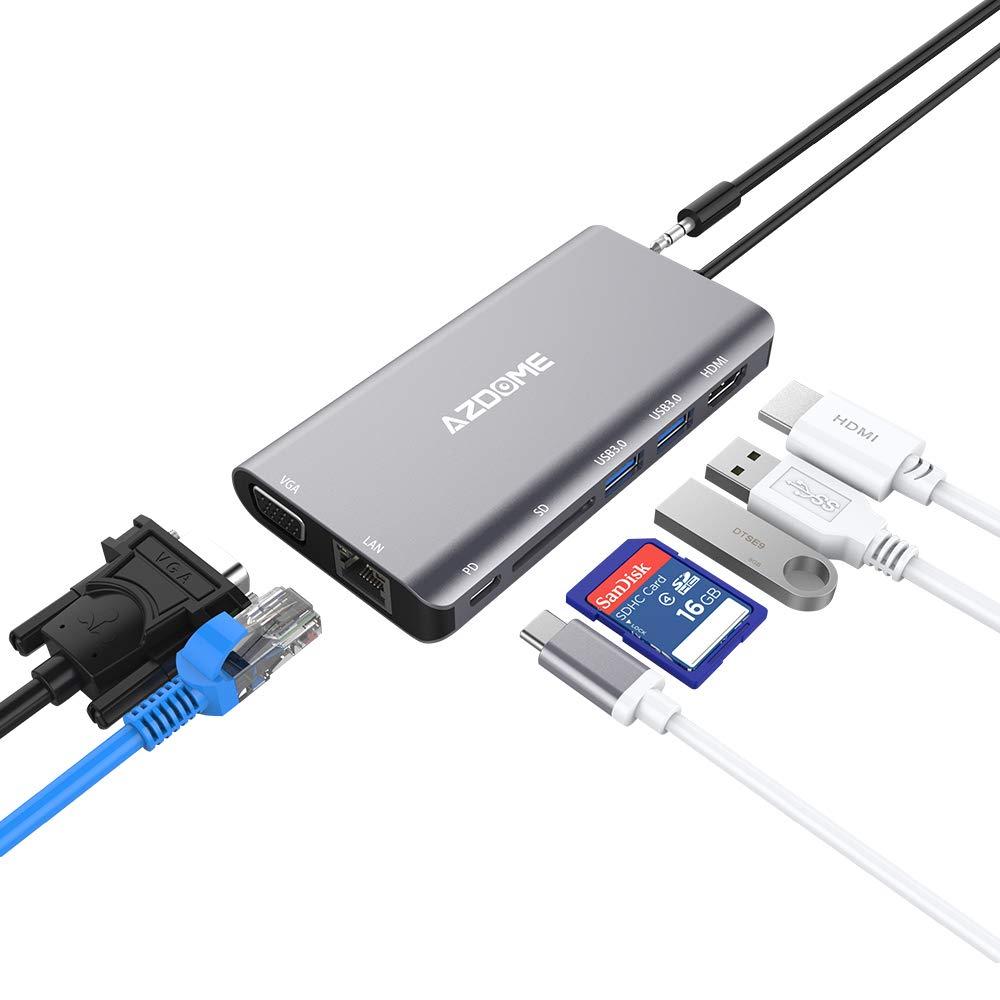 Azdome USB C Hub met 8 poorten bij Amazon.de voor €19,99