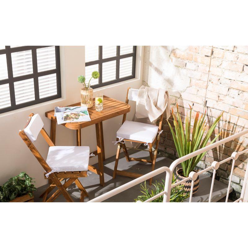 Houten balkon-/ tuinset incl kussens - met code €53,99 @ Xenos