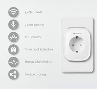 (3x) Teckin WIFI smart stopcontact met coupon 22.19 ipv 36.99 (= -40%)