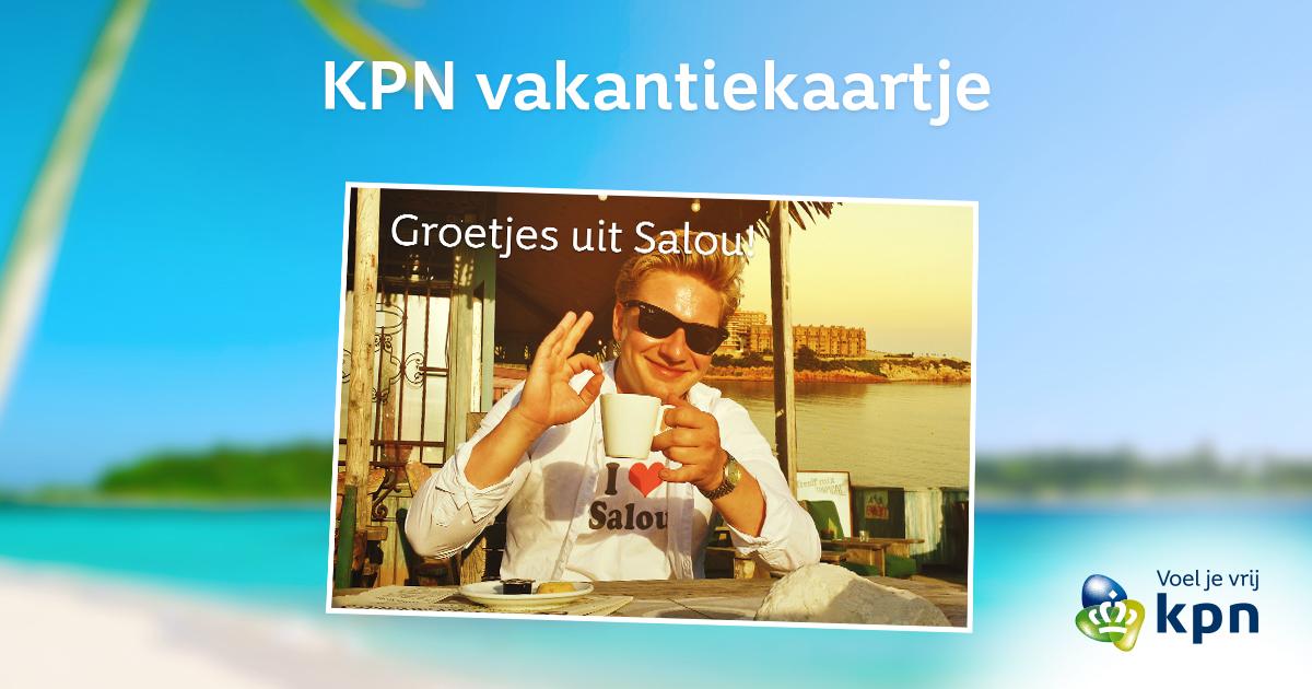 Gratis kaartje met eigen foto versturen @ KPN