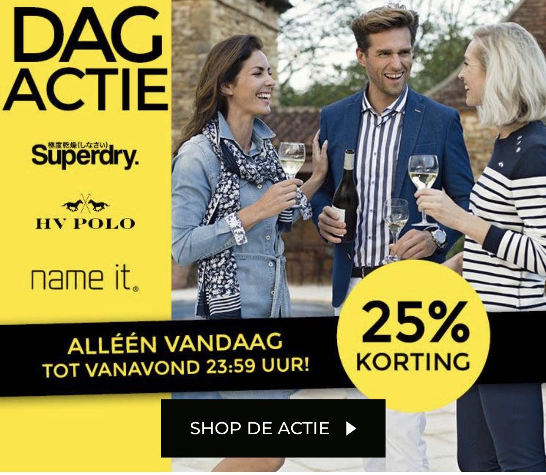 25% korting op Superdry, HV Polo en Name it