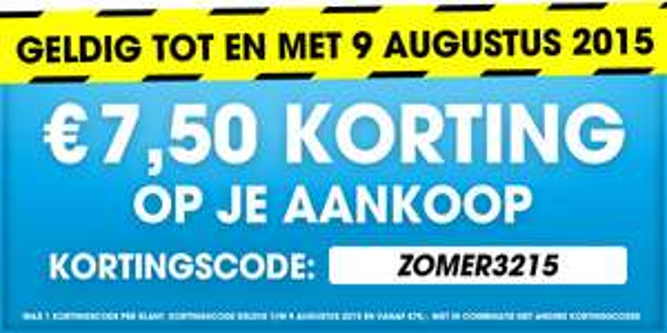 €7,50 zomerkorting op je aankoop @ Bobshop